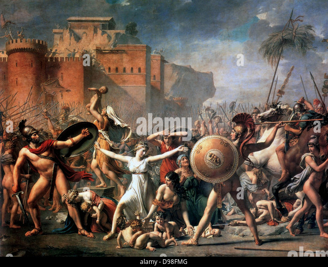 Jaques Louis David, 'The Sabines' - Stock Image