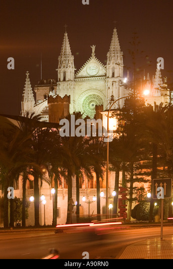 Spain Mallorca kathedral dawn - Stock Image