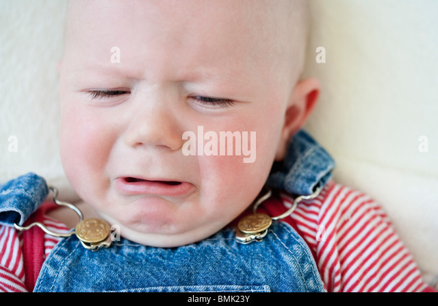 Crying baby-boy - Stock Image