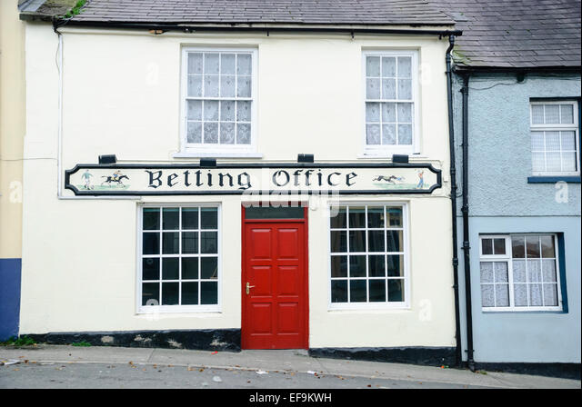 A traditional Irish betting office. - Stock Image
