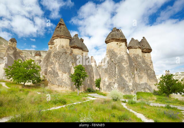 Cappadocia - Turkey, stone formations near Zelve, UNESCO - Stock Image