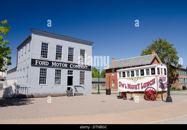 Ford village stock photos ford village stock images alamy for Ford motor company dearborn