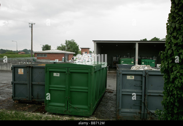 Waste management and recycle platform - Stock Image