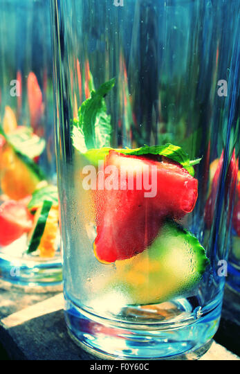 Summer drinks - Stock Image