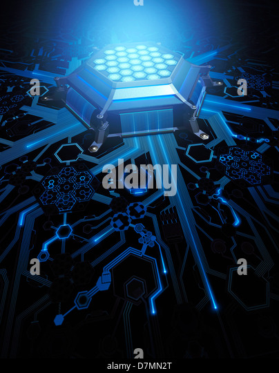 Futuristic computing technology, artwork - Stock Image
