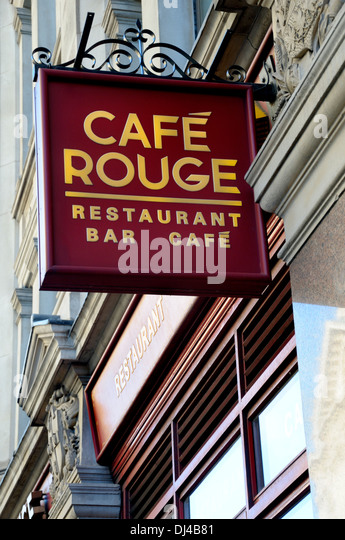 Cafe Rouge Chiswick Menu