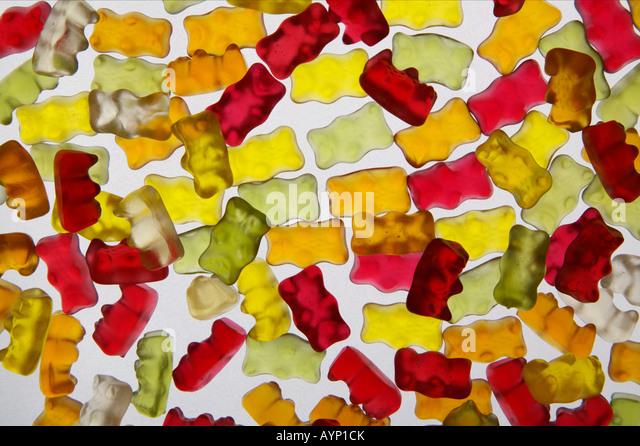 Several gummi bears - Stock Image