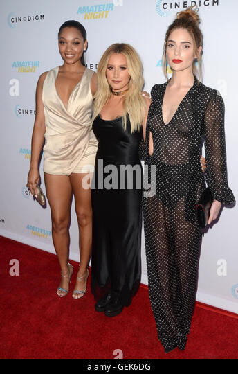Hollywood, USA. 25th July, 2016. HOLLYWOOD, CA - JULY 25: Bria Murphy, Ashley Tisdale and Janet Montgomery at the - Stock Image