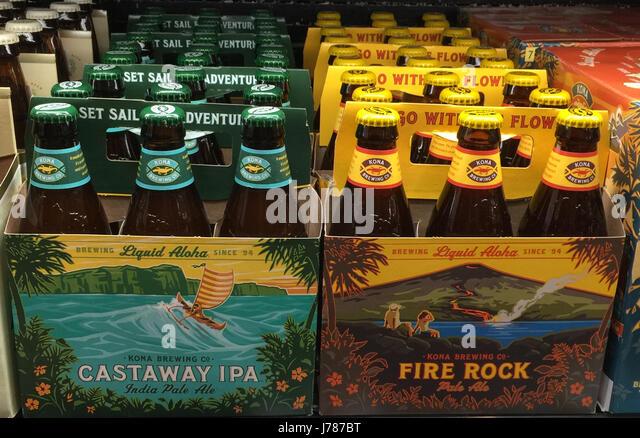 HAWAIIAN BEER BRANDS. Photo Tony Gale - Stock-Bilder