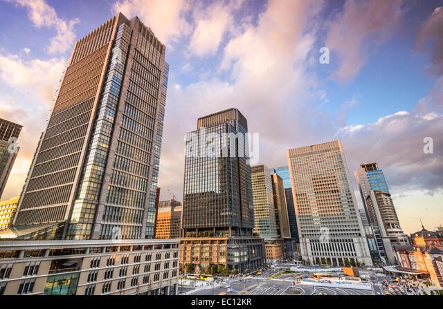 Tokyo, Japan at Marunouchi business district. - Stock-Bilder
