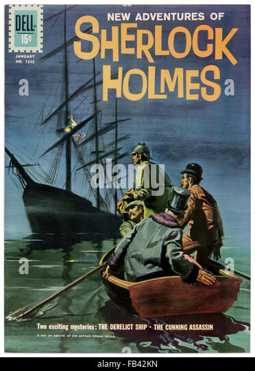 'The New Adventures of Sherlock Holmes' Dell Comics Issue 1169 January 1961 comic book adaptation illustrated - Stock Image