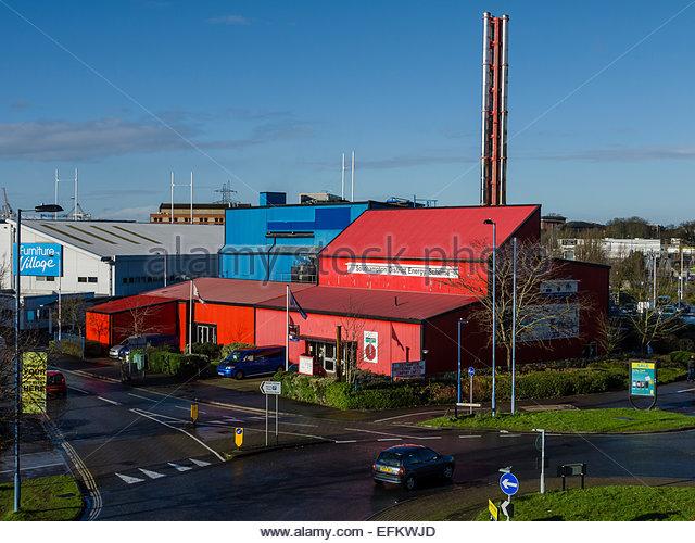 2015 January Southampton District Energy Scheme Geothermal energy heat resource - Stock Image