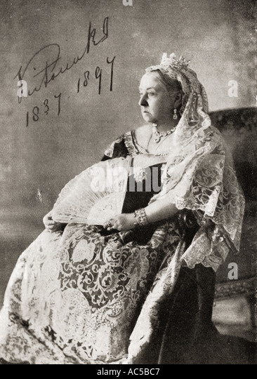 Queen Victoria 1819 1901 The authorised Diamond Jubilee photograph in 1897 - Stock Image