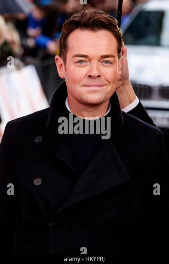 Stephen Mulhern attends the Red Carpet arrivals for Britain's Got Talent on 29/01/2017 at The London Palladium, - Stock Image