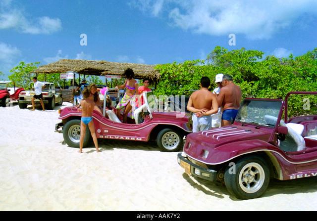 Buggy Rides Northeast Coast of Rio Grande do Norte Brazil - Stock Image
