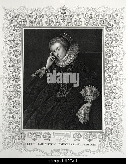 Lucy Russell (Harington), Countess of Bedford. Died 1627 - Stock Image