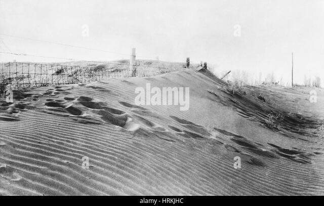 Dust Bowl, 1930s - Stock Image