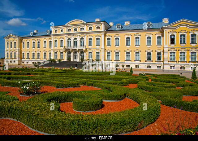 geography / travel, Latvia, Bauska, Rundale Castle, baroque, rococo, summer residence, Latvija, Baltics, Baltic - Stock-Bilder