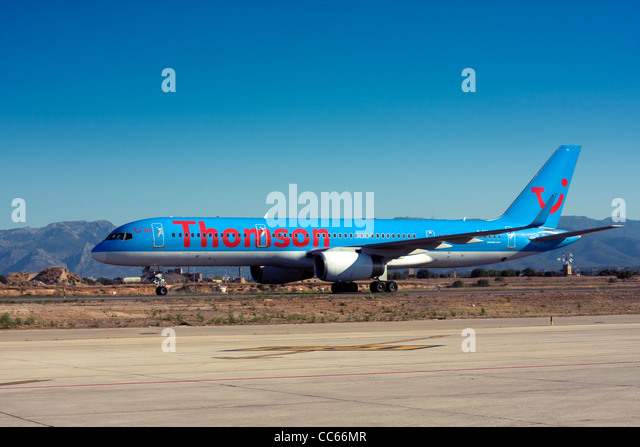 Thomson Airways Boeing 757 at Palma de Mallorca, Son San Juan Airport, Majorca, Spain - Stock Image