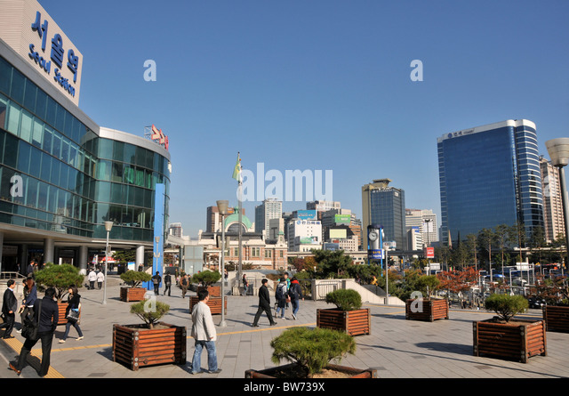 railway station, Seoul, South Korea - Stock Image