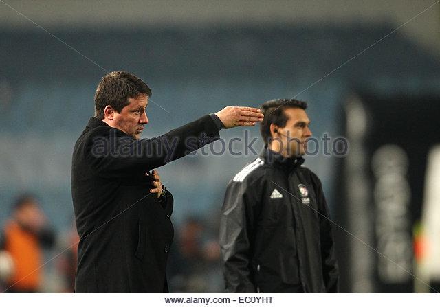 Coimbra, Portugal. 6th Dec, 2014. Academica's Portuguese coach Paulo Sérgio during Premier League 2014/15 - Stock Image