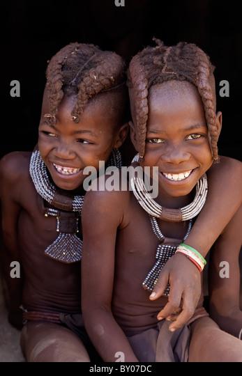 Himba woman, Kaokoland, Namibia - Stock Image
