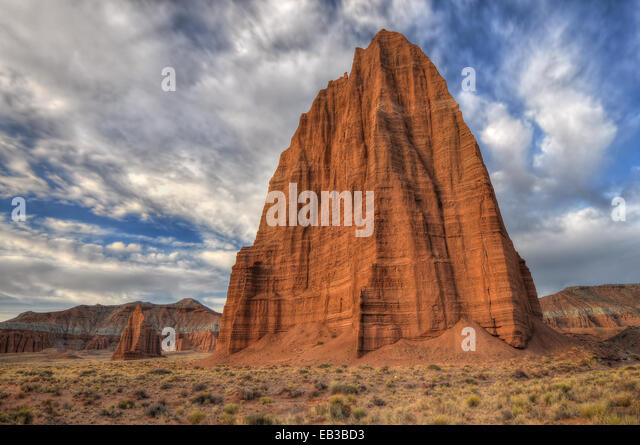 USA, Utah, Capitol Reef National Park, Temple of Moon - Stock Image