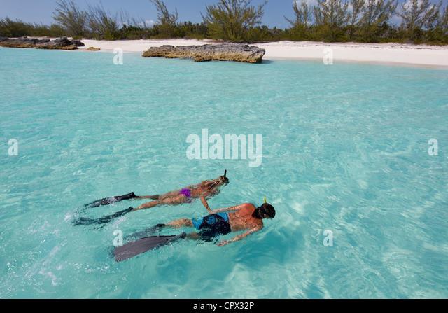 Snorkeling in the Atlantic Ocean - Stock Image