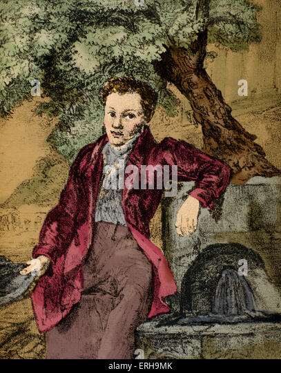 Alexander Pushkin in Crimea, 1820.  Russian poet, dramatist and novelist, 1790-1837.  Music inspired by his work - Stock Image