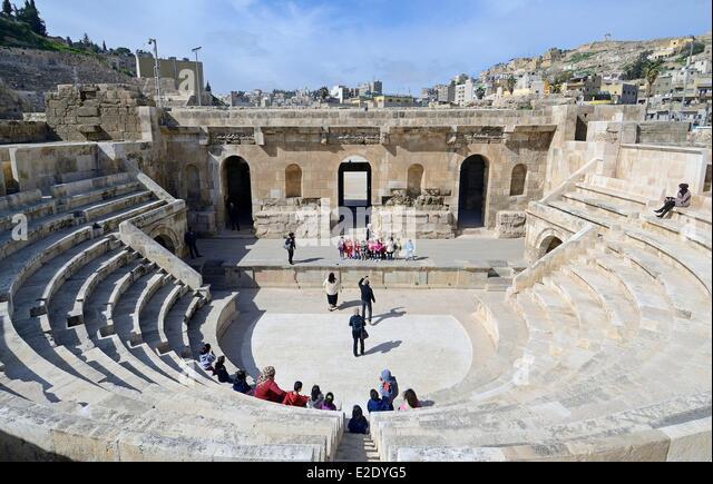 Jordan Amman governorate Amman the roman odeon - Stock Image