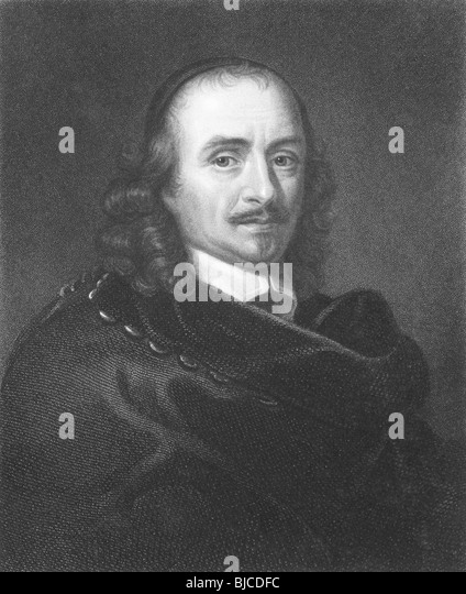 Pierre Corneille (1606-1684) on engraving from the 1800s. Founder of French tragedy. - Stock Image