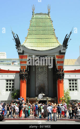 Grauman's Chinese Theatre along Walk of Fame on Hollywood Boulevard in downtown Los Angeles, California - Stock Image