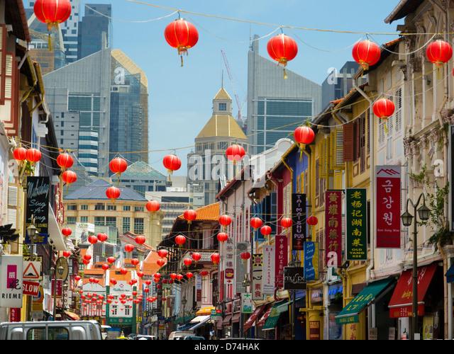 Chinese Lanterns, China Town, Singapore, Asia - Stock Image