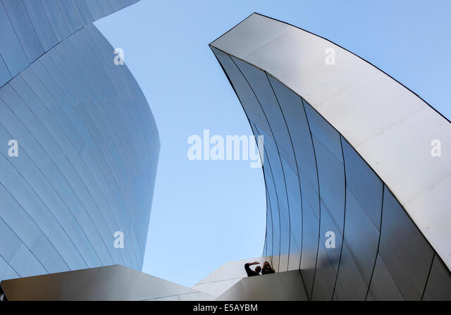 California CA Los Angeles L.A. Downtown Walt Disney Concert Hall landmark performance venue exterior architecture - Stock Image