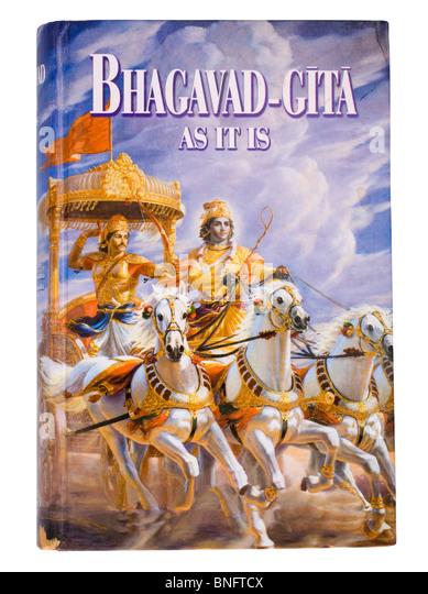 Close-up of the Bhagavad Gita - Stock Image