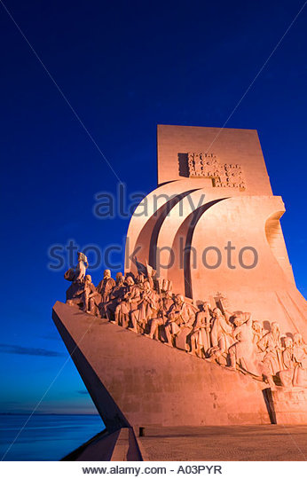 Monument to the Discoveries Padrao dos Descobrimentos Belem Lisbon Portugal - Stock Image