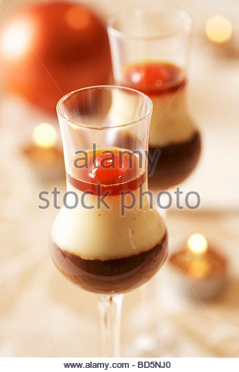 Dessert With Yellow Cake Coconut With Cherries
