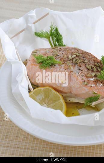 Saumon stock photos saumon stock images alamy - Saumon en papillote ...