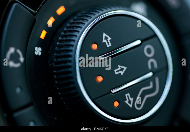 car, air condition knob - Stock Image