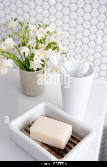 Objects in bathroom - Stock Image