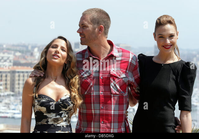 Elsa Pataky, Paul Walker and Gal Gadot attend a photocall for their new movie 'Fast and Furious 5: Rio Heist' - Stock Image