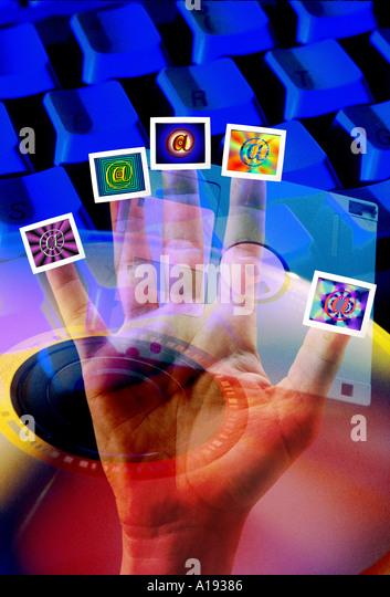 internet concept - Stock Image