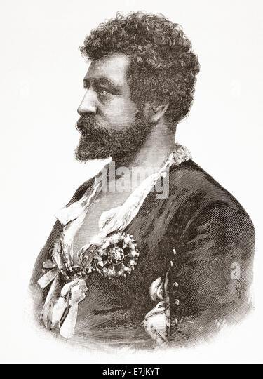 Francesco Tamagno, 1850 ?1905.   Italian operatic tenor. - Stock-Bilder