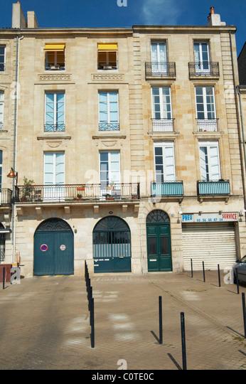 quai des chartrons bordeaux france - Stock Image
