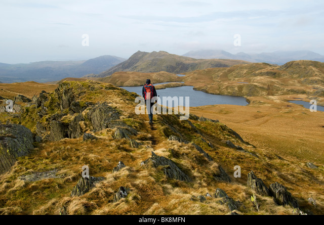 Cnicht from Allt-fawr, in the Moelwyn hills, Snowdonia, North Wales, UK - Stock Image