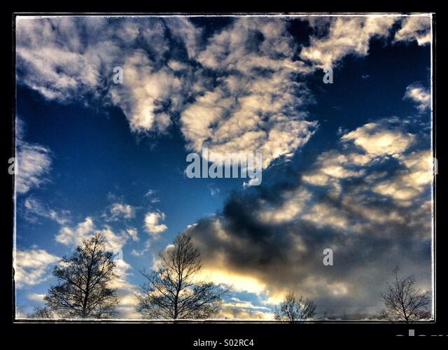 Sunset and clouds - Stock Image