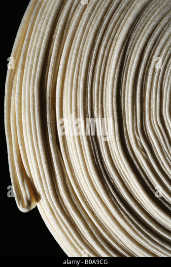 Coiled fabric, extreme close-up - Stock Image