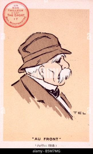 1FK 547 G1918 E Georges Clemenceau Caricature 1918 Clemenceau Georges French politician leader of the extreme Left - Stock Image
