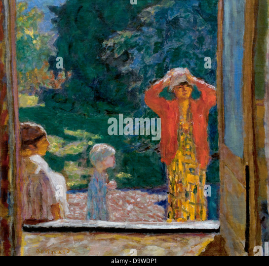 Painting by pierre bonnard stock photos painting by for Devant la fenetre