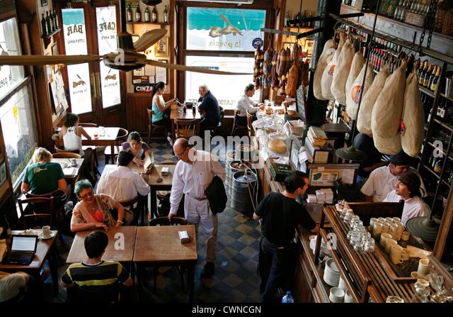 La Poesia bar and restaurant, San Telmo, Buenos Aires, Argentina. - Stock Image